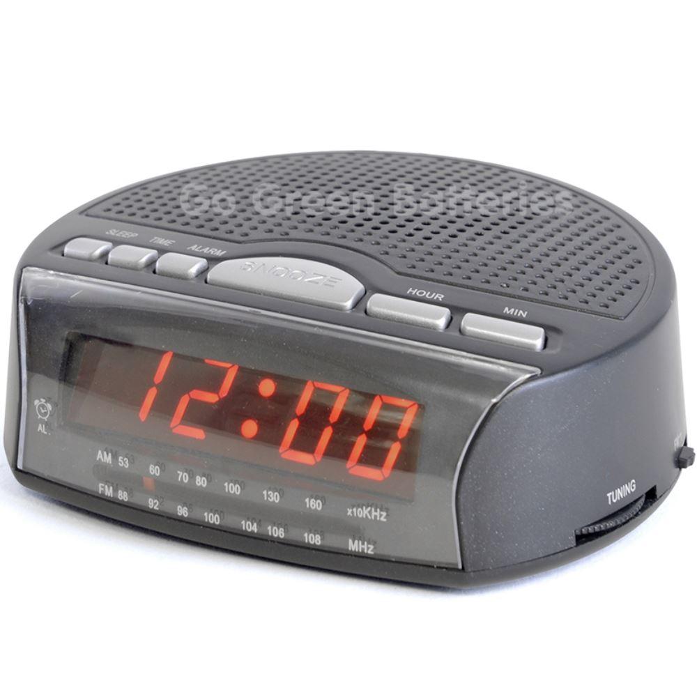 Lloytron Am Fm Radio Alarm Clock Led Display Bedside With Sleep Timer And Snooze 5052337010103 Ebay