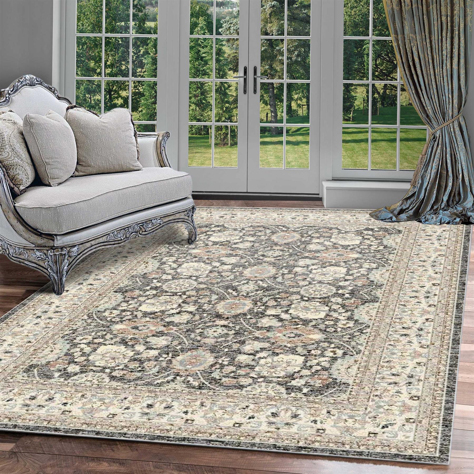 Details About A2z Rug Vintage Style Geometric Floral Living Room Floor Rugs Boho Berber Carpet