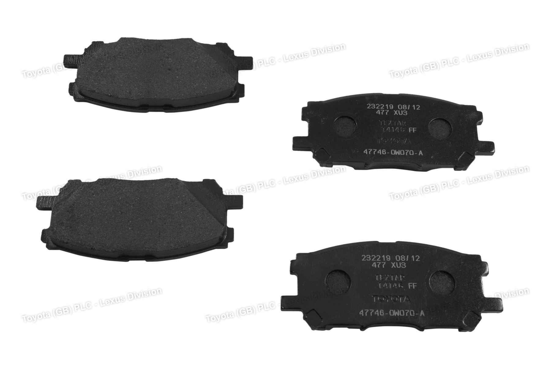 Genuine Lexus RX Car Replacement Pad Kit axle set Brake Disc