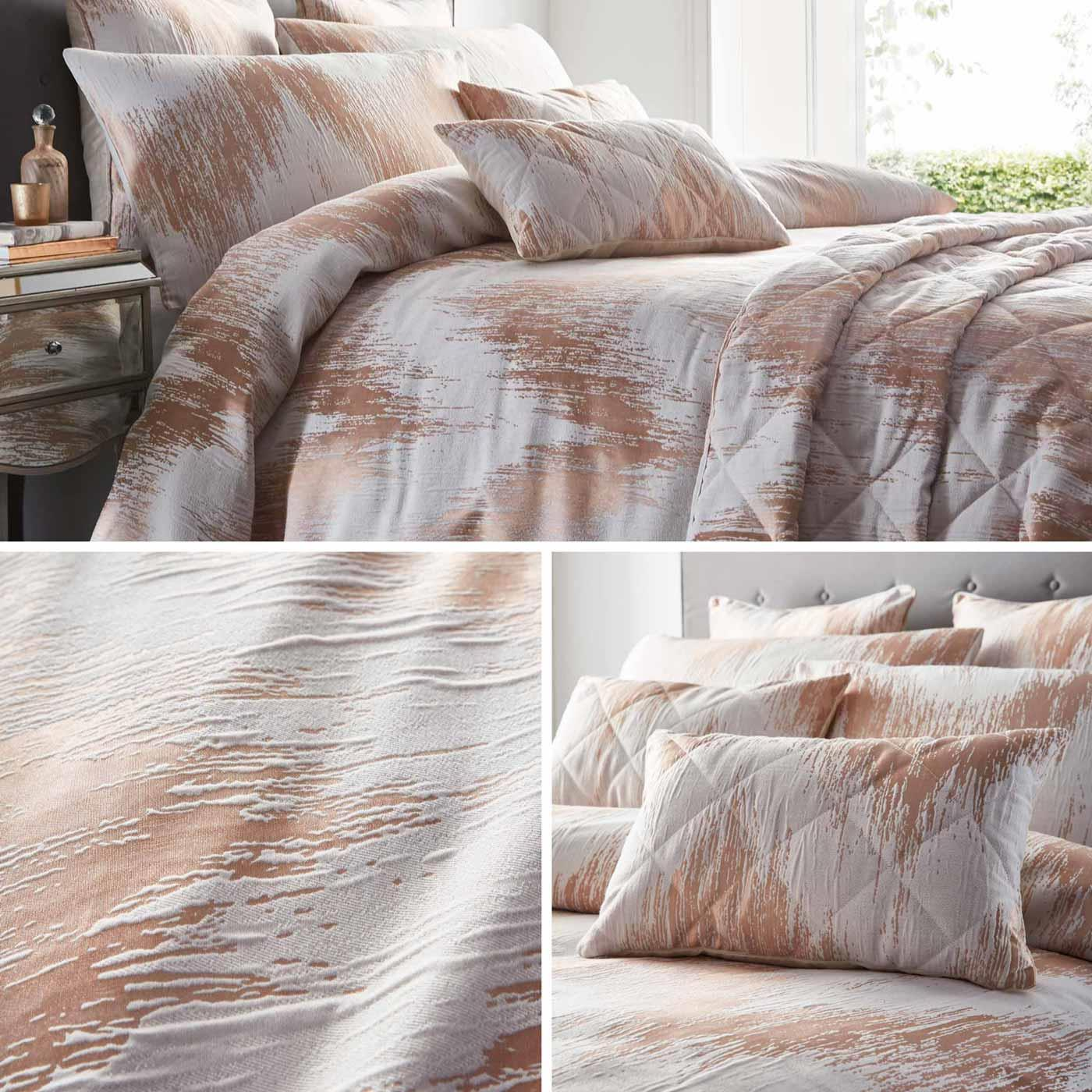 Details About Gold Duvet Covers Metallic Chevron Jacquard Luxury Quilt Cover Bedding Sets