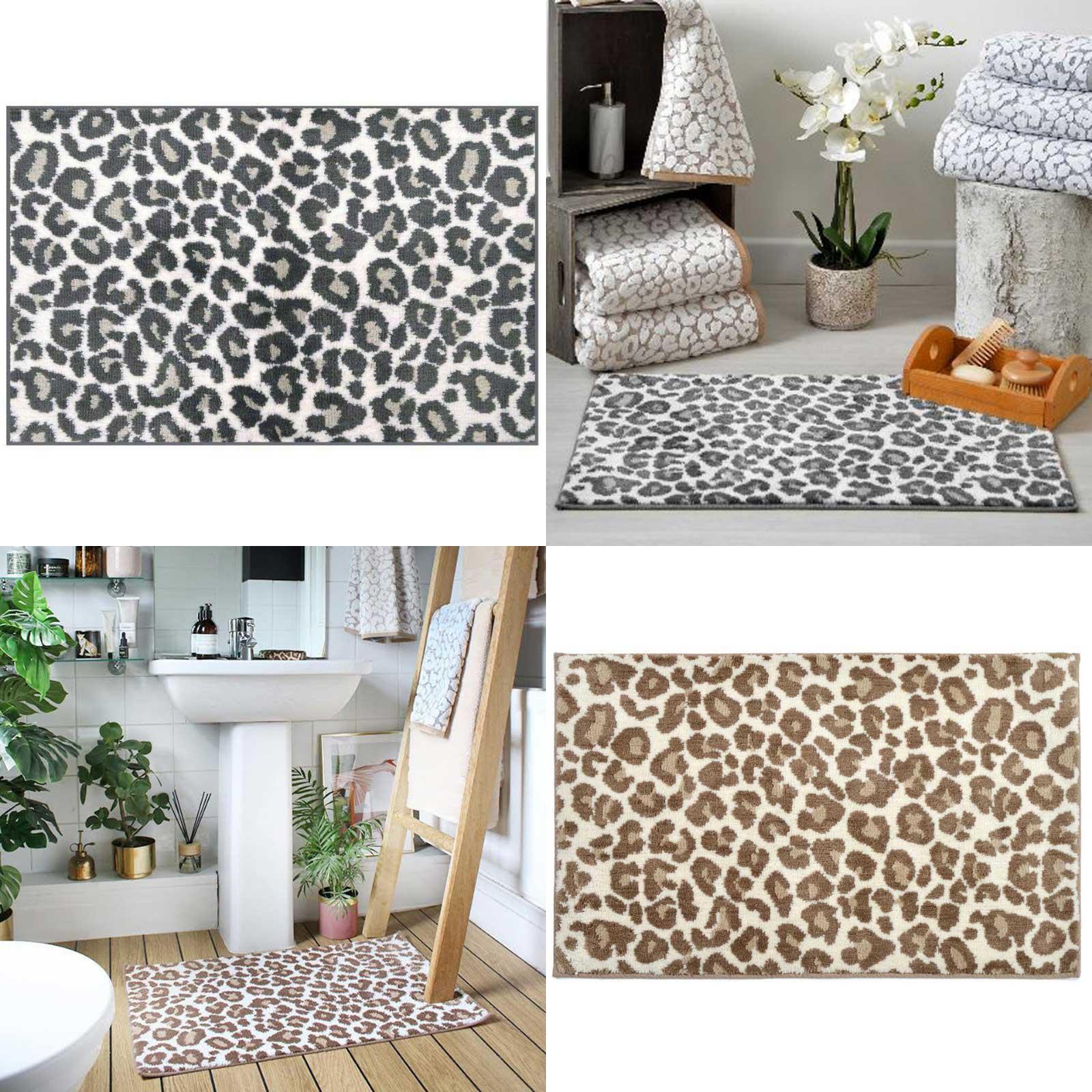 Leopard Print Bath Mat Non Slip Super Soft Absorbent Animal Bathroom Shower Mats Ebay