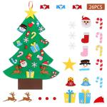 3 1ft Felt Christmas Tree Diy Wall Hanging Kids Toddlers 26pcs Xmas Decorations Ebay