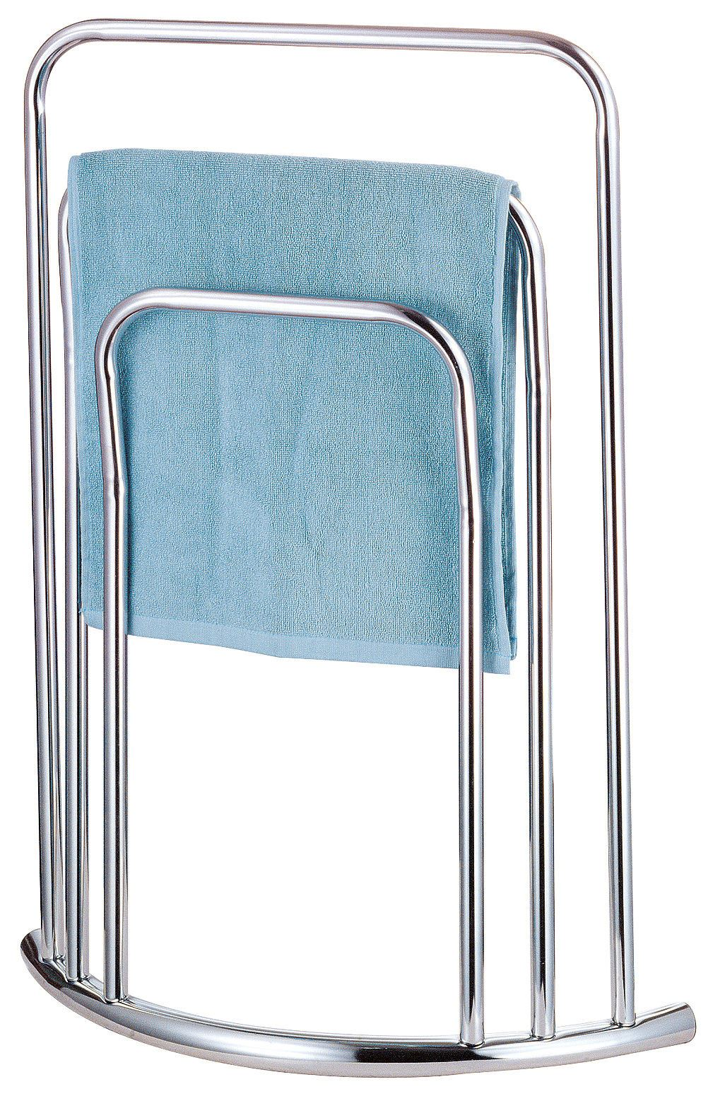details about free standing curved 3 tier towel rail drying bathroom stand holder storage rack