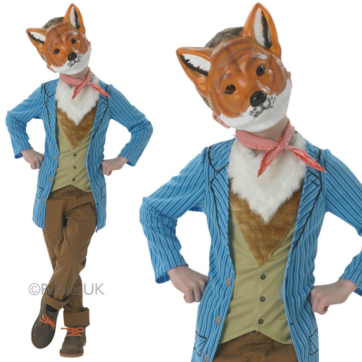 Boys Fantastic Mr Fox Costume Book Day Week Fancy Dress