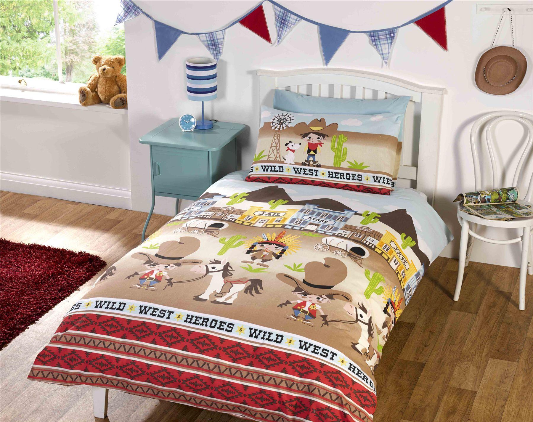 Children Kids Junior Single Double Quilt Duvet Covers Amp P