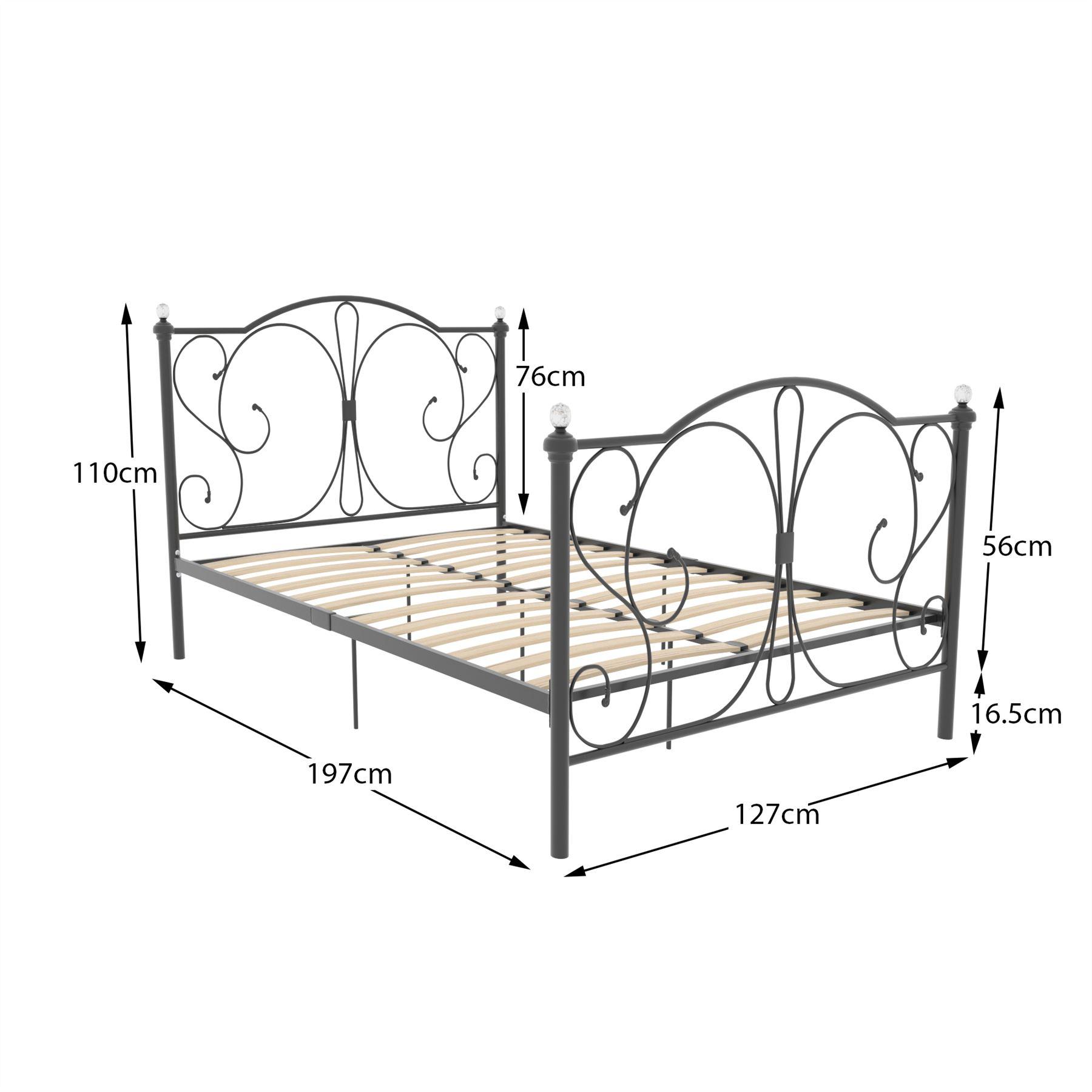 Black King Sleigh Bed