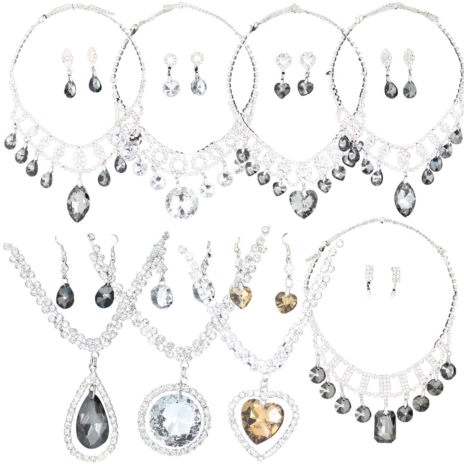 True Face La S Women S Elegant Earrings Necklace Set