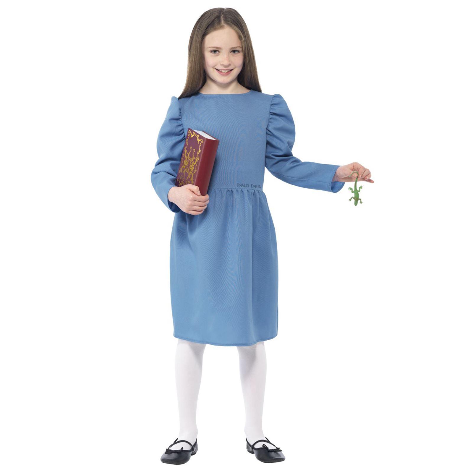 Kids Girls Official Roald Dahl Matilda Fancy Dress Book