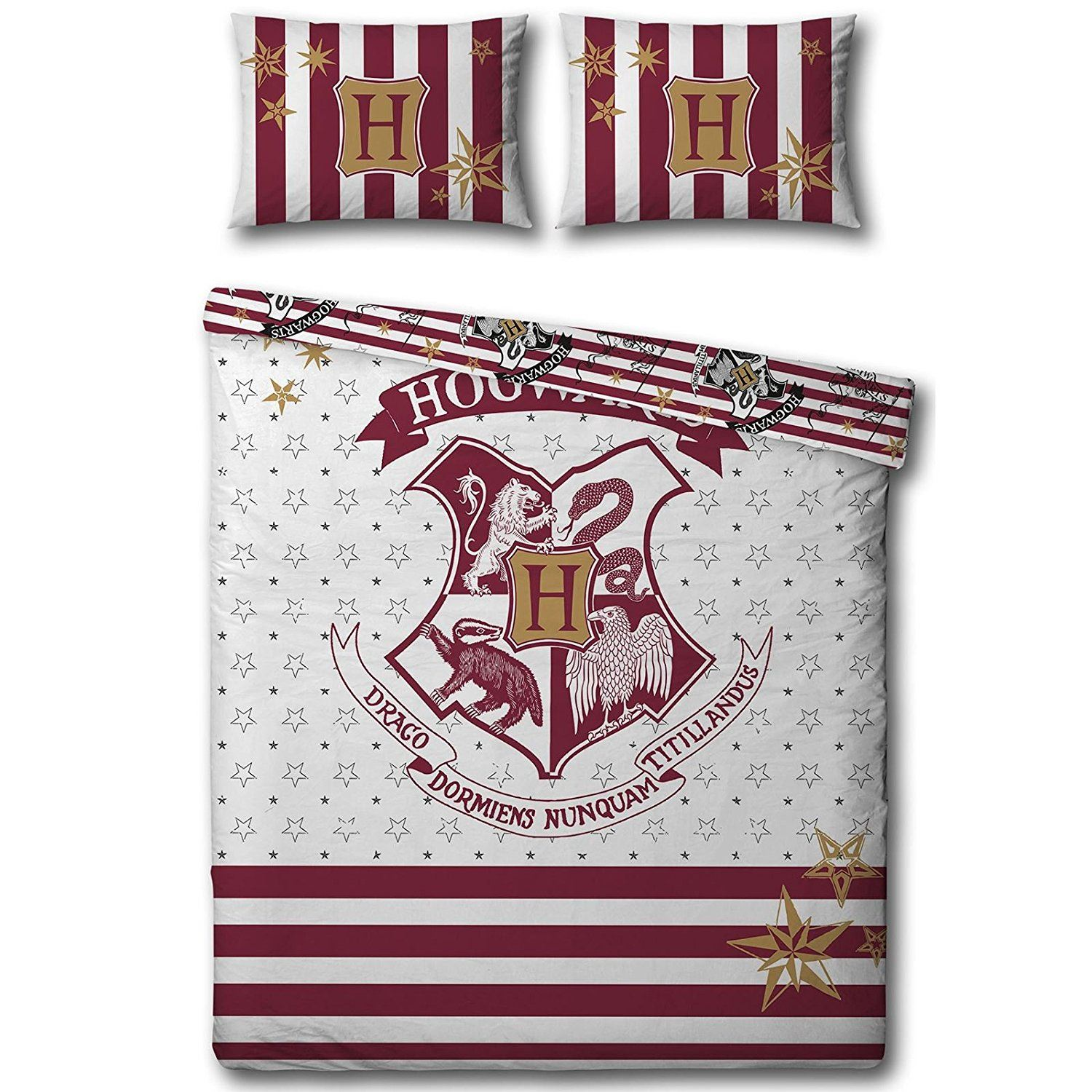 HARRY POTTER Duvet Quilt Cover Bedding Set Single Double
