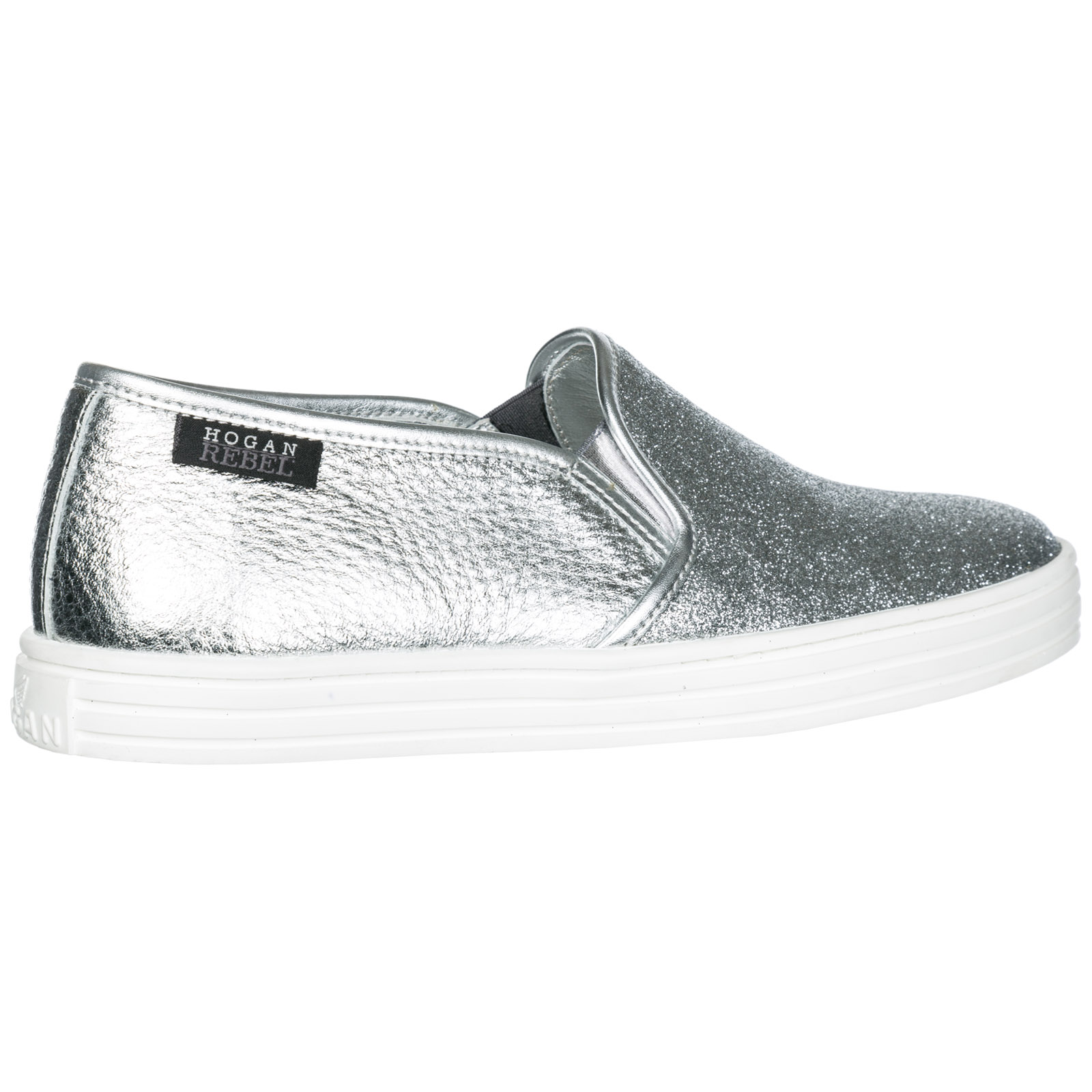 Slip On Shoes Hogan Rebel R141 Hxw Q560gajb200 Argento