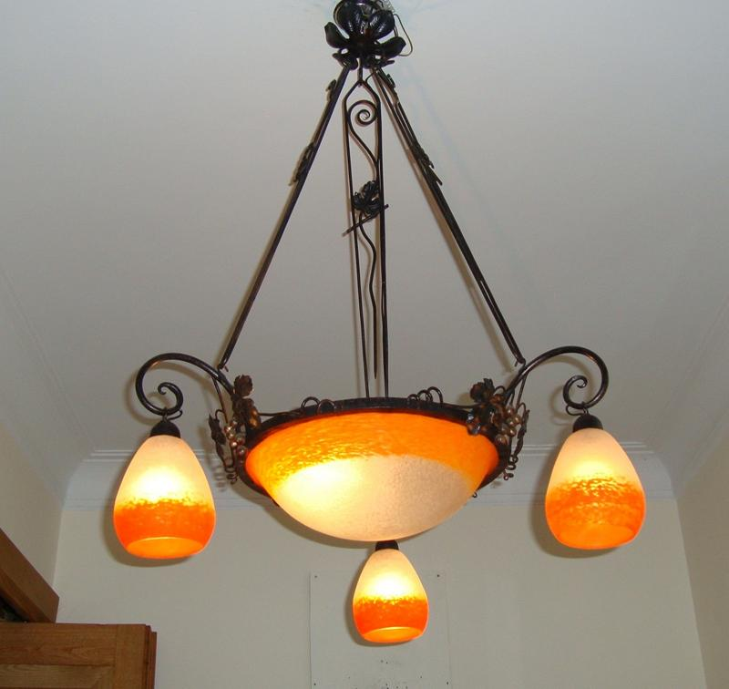 Rethondes orange pate de verre chandelier circa 1930 jones rethondes orange pate de verre chandelier circa 1930 mozeypictures Gallery