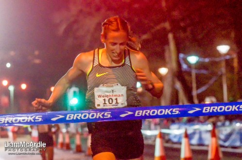 Laura Weightman, 101, Morpeth Harriers, wins Womens 3000m in record time at the Armagh International Road Races The Mall Armagh 16 February 2017 CREDIT: LiamMcArdle.com