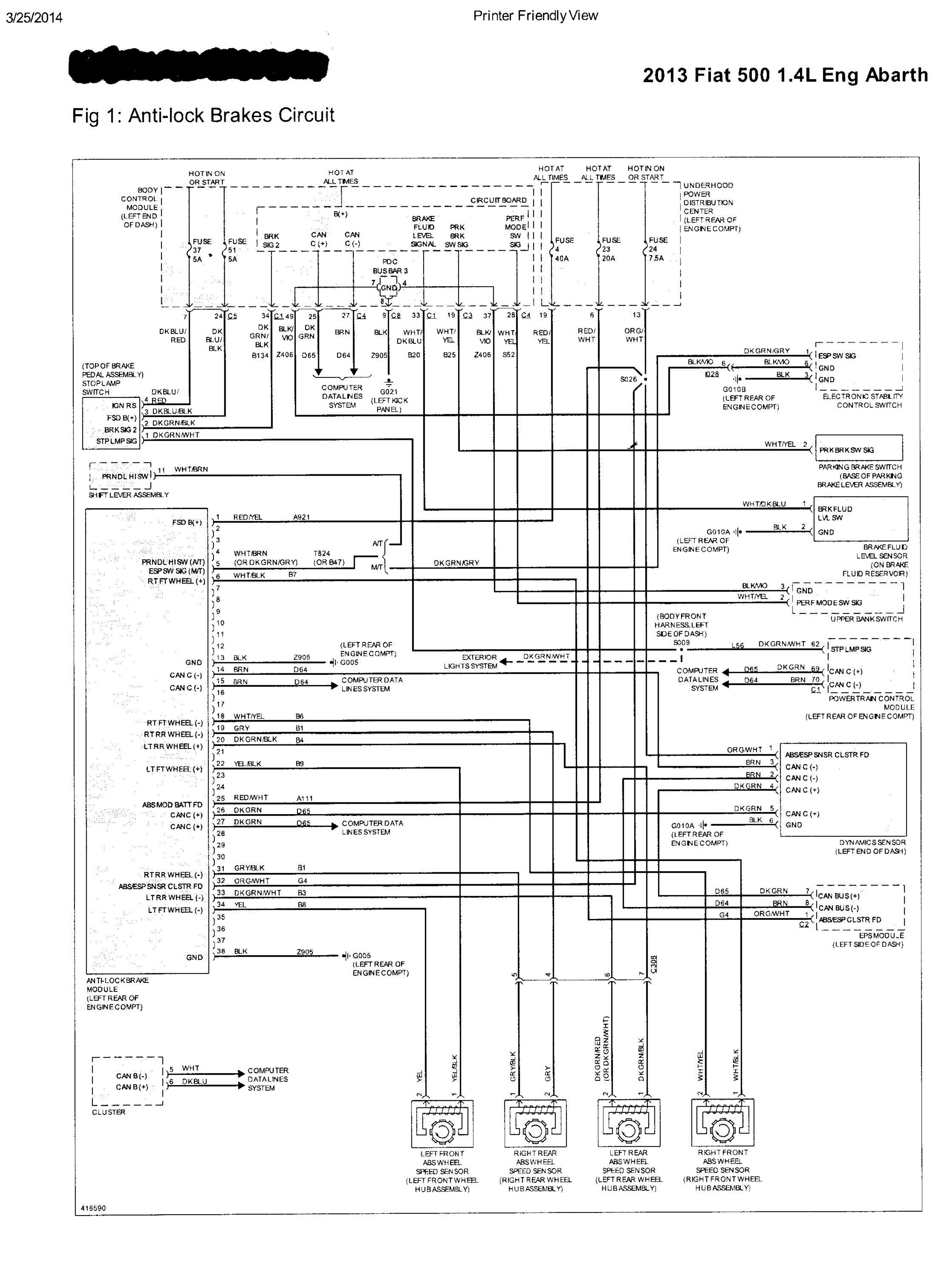 Abarth 500 Misc Documents Wiring Diagrams
