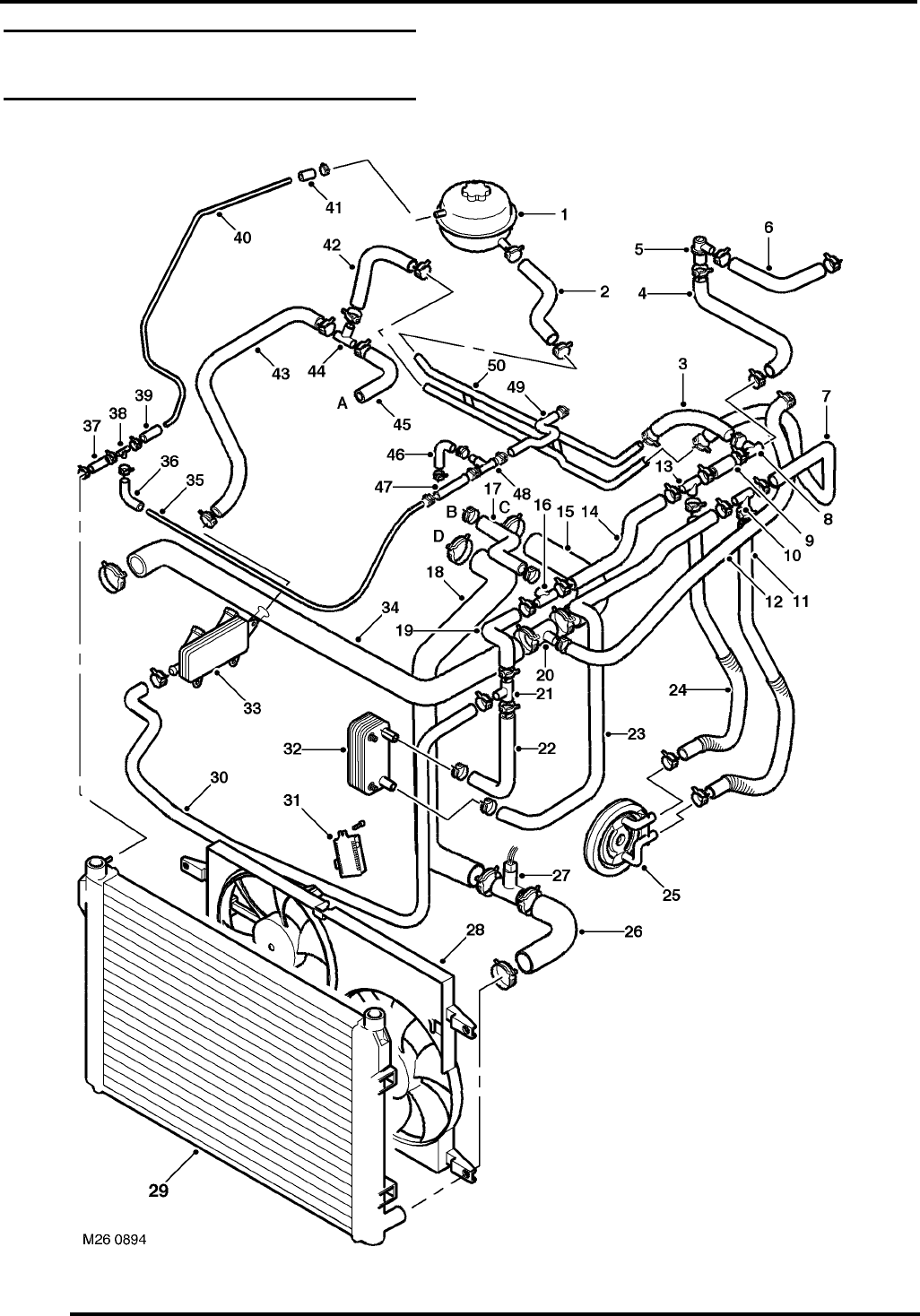 Jaguar X Type Cooling System Diagram