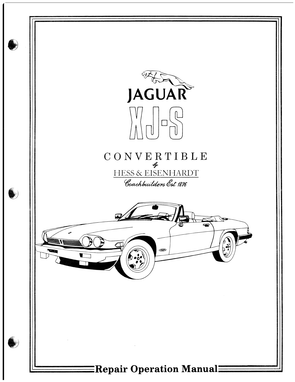Jaguar Xjs Workshop Manual