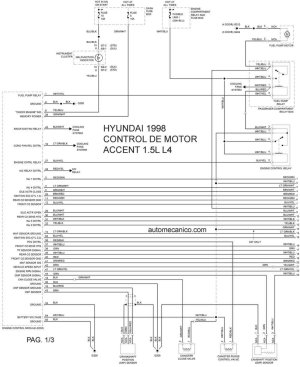 Hyundai Accent 1995 Wiring Diagram | Wiring Library