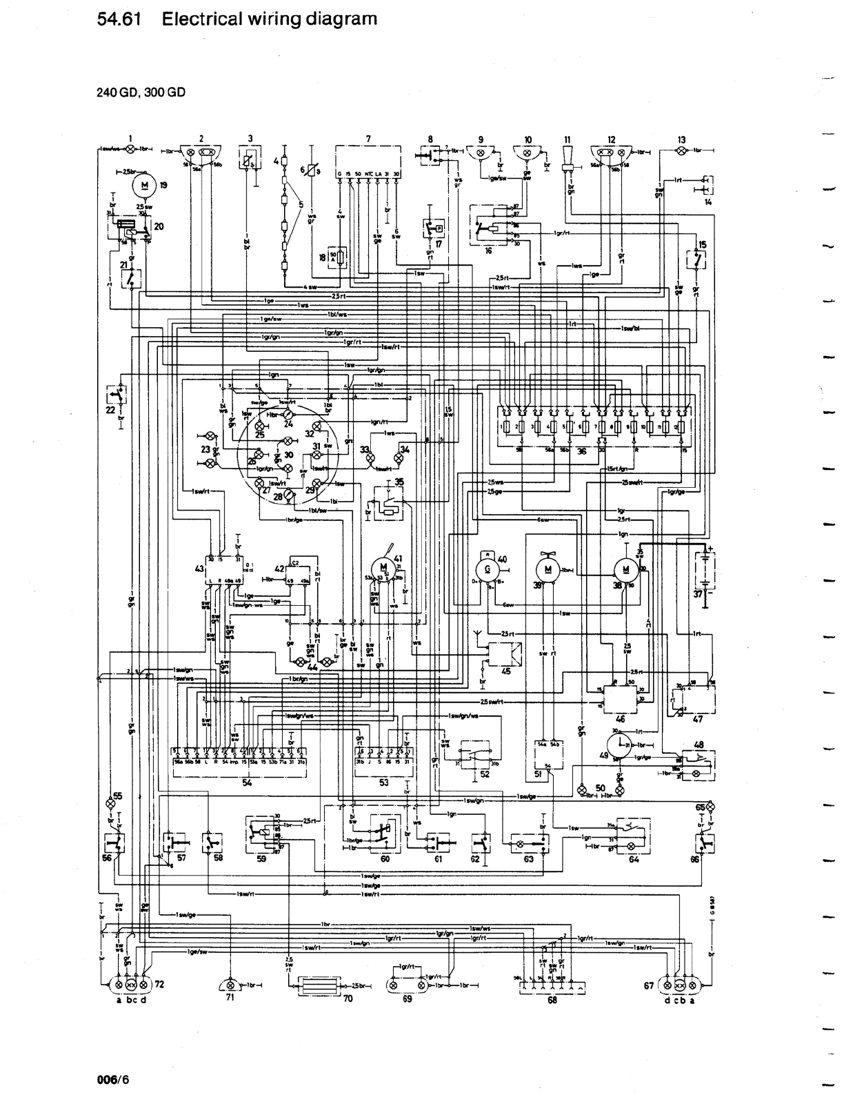 Mercedes G 240 Misc Documents Wiring Diagrams