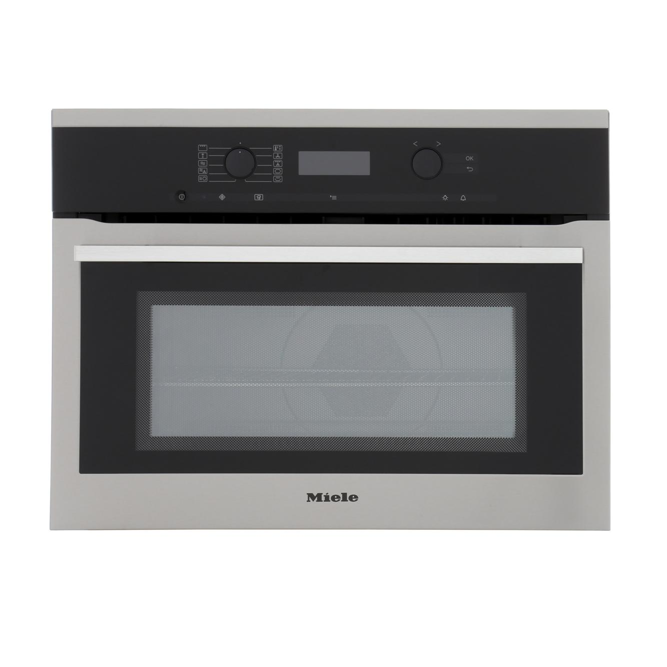 buy miele contourline h6100bm cleansteel built in combination microwave h6100bmclst marks electrical