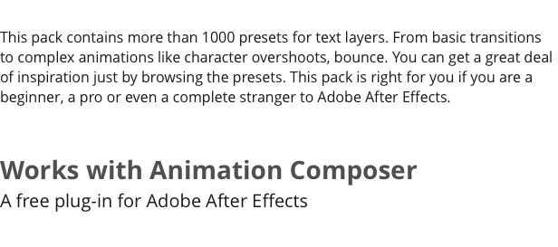 Text Presets Pack for Animation Composer - 7