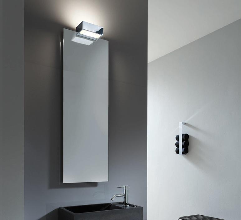 Wall Light Bathroom Box 1 25 N Chrome Led L25cm H5cm Decor Walther Nedgis Lighting
