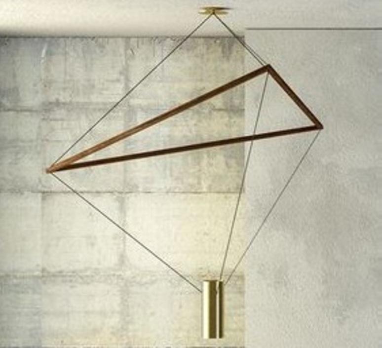 chandelier ed037 brass wood o82cm h80cm edizioni