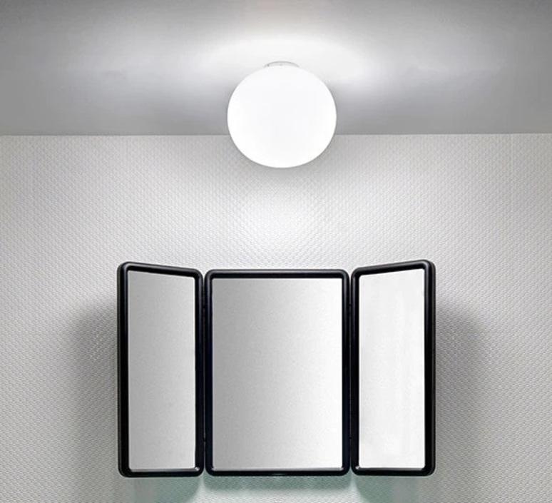 ceilling light glo ball ceiling wall zero white o19cm h16cm flos