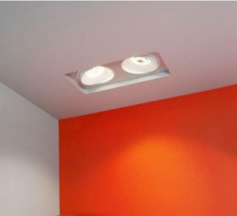 recessed light titan trimless double square white l30cm l28cm 3000k 40 910lm doxis