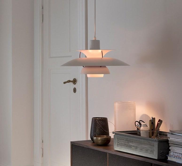 pendant light ph5 white o50cm h27 7cm louis poulsen