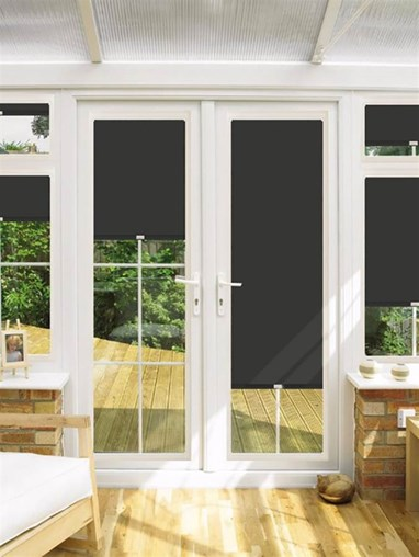 blackout hardcore perfect fit roller blind for doors