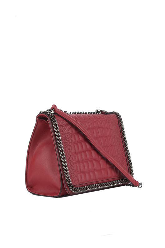 red croc bag