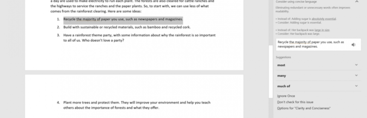 Machine learning in Microsoft Word's new Editor gave me the...