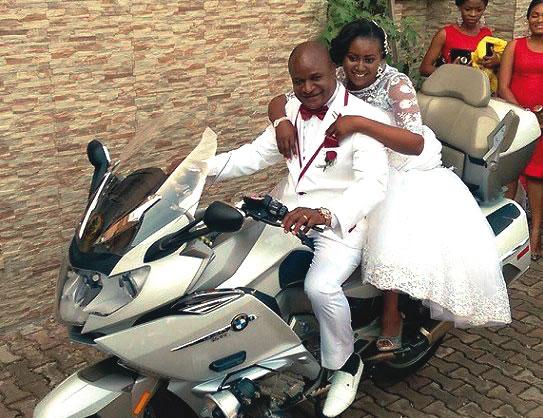Mr. and Mrs. Okelue: The power bike couple