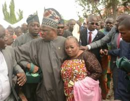 Image result for Mob attack Aregbesola's nominee at Adeleke's burial