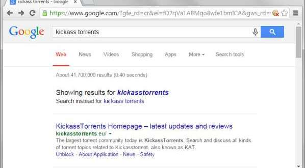 Kickass Torrents disparait de Google
