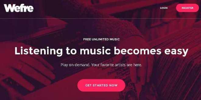 WeFre, une combinaison de Youtube et Spotify