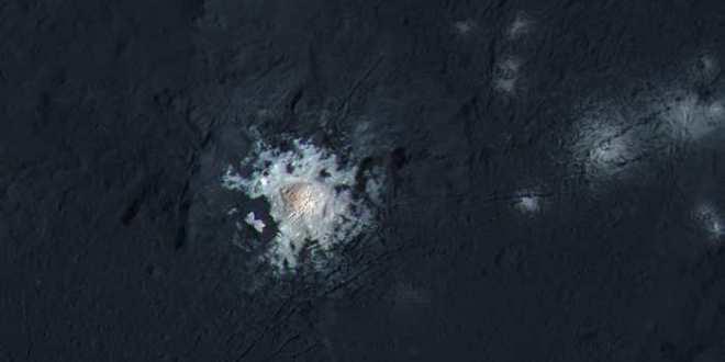 Le point brillant sur Ceres pourrait être une porte vers son intérieur