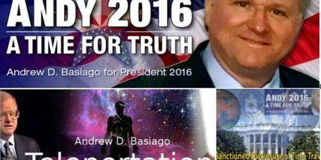 Andrew Basiago, voyageur dans le temps et candidat à l'élection présidentielle américaine de 2016