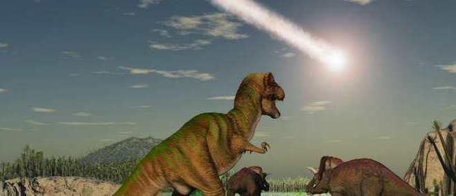 Les dinosaures étaient condamnés bien avant l'impact de la météorite