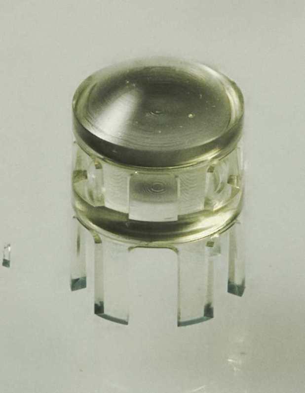 Exemple d'une lentille imprimée en 3D - Crédit : Credit: Thiele et al. Sci. Adv.2017;3:e1602655