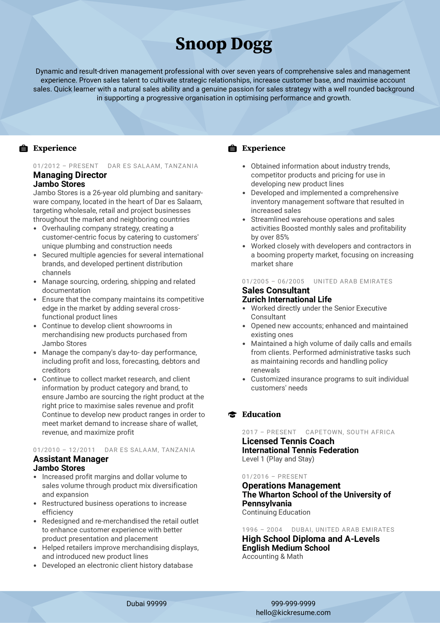Resume Examples By Real People Assistant Manager Cv