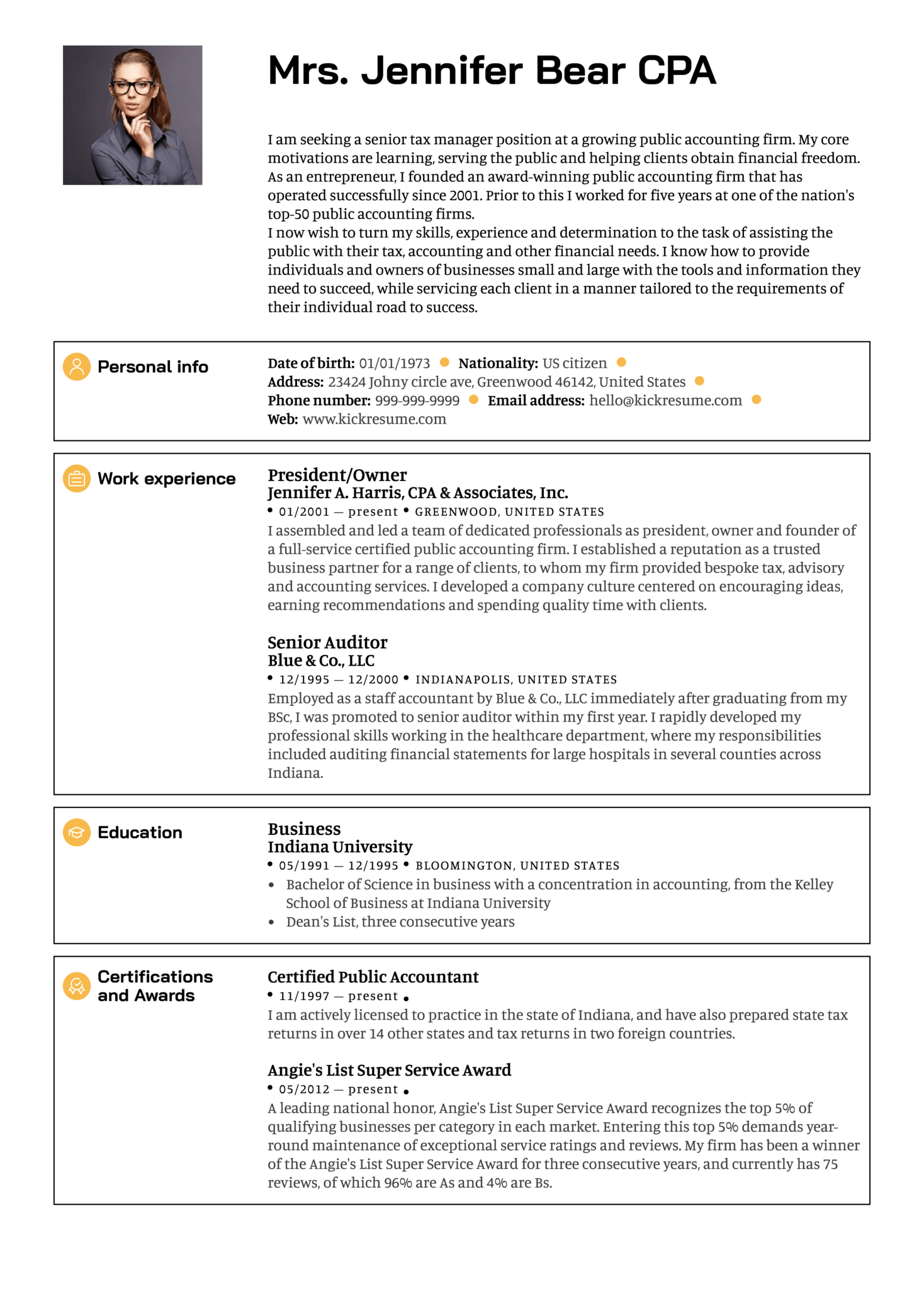 Resume Examples By Real People Senior Manager Resume