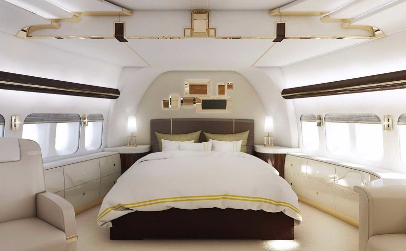 Boeing 747 Private jet bedroom nose