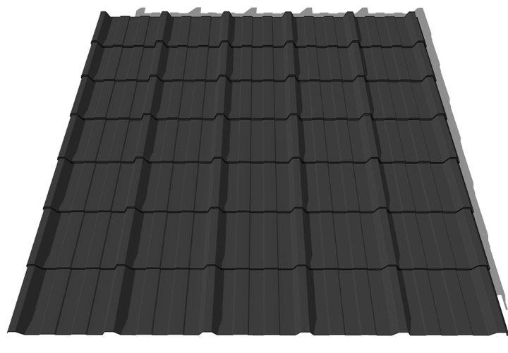 tile effect box profile sheet 3 6mtr x 1mtr slate grey
