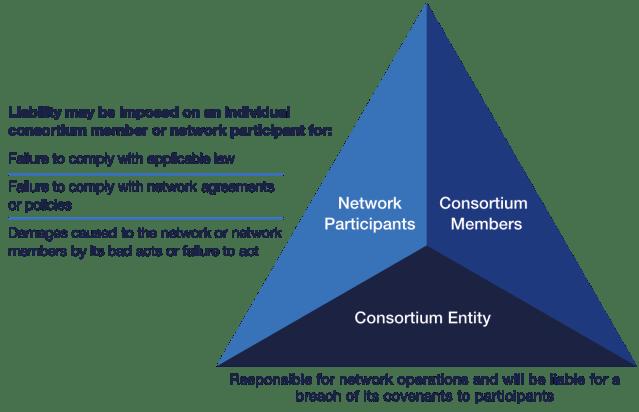 Responsabilità tipiche affrontate da vari tipi di partecipanti blockchain