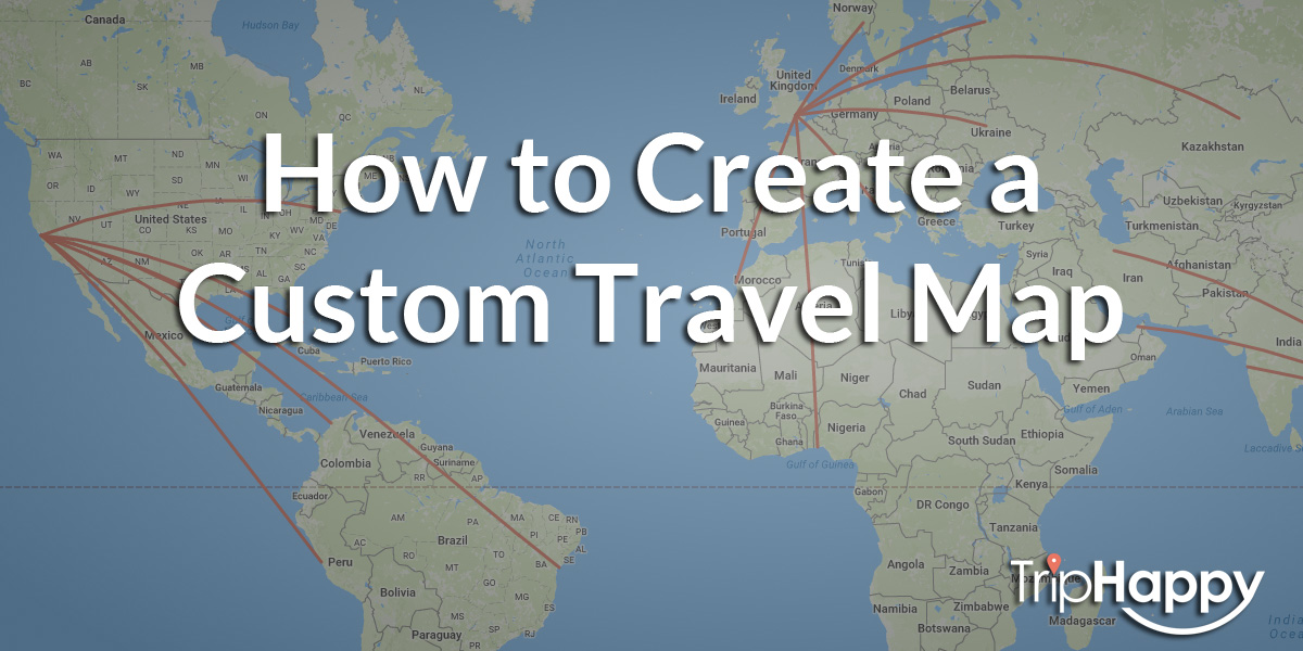 How to Create a Beautiful Custom Travel Map