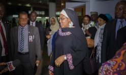 Image result for Aisha Buhari returns from South Korea