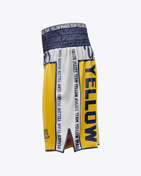 Download Boxing Shorts Mockup Half Side View Yellowimages