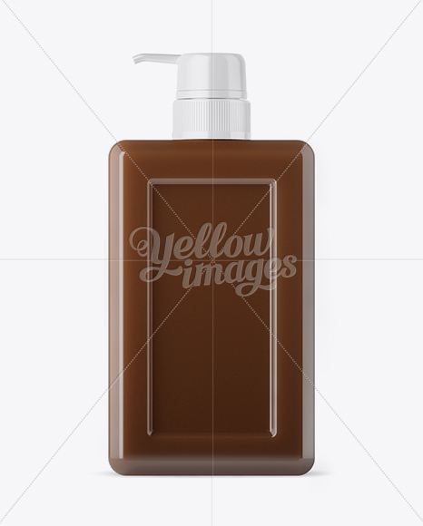 Download Square Milk Bottle Psd Mockup Yellow Images