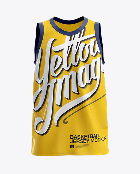 Download Basketball Jersey Mockup - Front View in Apparel Mockups ...