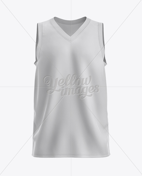 Download Download Basketball Jersey with V-Neck Mockup - Front View PSD